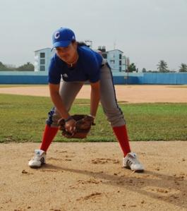 Odrisleisis Peguero una de las avileñas que integran la selección cubana de béisbol femenino.